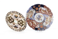 Lot 1046-TWO EARLY 20TH CENTURY JAPANESE IMARI PLAQUES...
