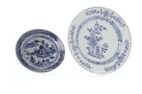 Lot 1103-EARLY 20TH CENTURY CHINESE BLUE AND WHITE PLATE...