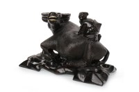 Lot 1135-EARLY 20TH CENTURY CHINESE CARVED WOOD BUFFALO...