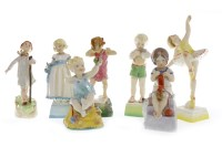 Lot 1205-SET OF SEVEN ROYAL WORCESTER 'DAYS OF THE WEEK'...
