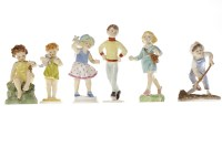 Lot 1206-SET OF ROYAL WORCESTER 'DAYS OF THE WEEK' FIGURES ...