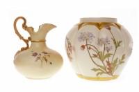 Lot 1216-ROYAL WORCESTER POTPOURRI JAR of shaped bulbous...