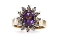 Lot 596-EIGHTEEN CARAT GOLD AMETHYST AND DIAMOND RING the ...