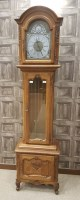Lot 1440-REPRODUCTION FRENCH LONGCASE CLOCK the domed hood ...