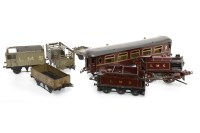 Lot 1651-GOOD LOT OF HORNBY SERIES TIN PLATE STATIONS AND...