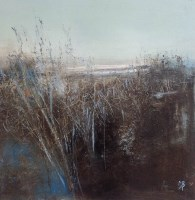 Lot 2364A - MAY BYRNE, WINTER GRASSES oil, signed 40.5cm x...