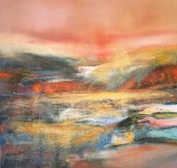 Lot 2393 - MAY BYRNE, SETTING SUN oil on canvas, signed...
