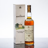Lot 1212 - THE MACALLAN 10 YEAR OLD Single Highland Malt...