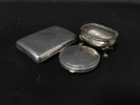 Lot 5-SILVER CIGARETTE CASE along with a silver salt, a ...