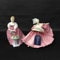 Lot 11-FOUR ROYAL DOULTON FIGURES comprising 'Elaine'...
