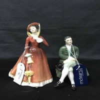 Lot 12-FOUR ROYAL DOULTON FIGURES comprising 'A...