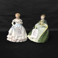Lot 13-FIVE ROYAL DOULTON FIGURES comprising 'Claire'...