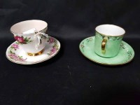 Lot 17-HAND PAINTED TEA SERVICE along with a Paragon...