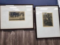 Lot 25-TWO ETCHINGS BY HAROLD STOREY signed and under...