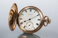 Lot 1613 - GENTELMAN'S ROLLED GOLD FULL HUNTER ELGIN...