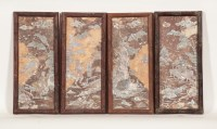 Lot 200A-FOUR VIETNAMESE MOTHER OF PEARL AND MARBLE...