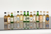 Lot 881 - 26 ASSORTED WHISKY MINIATURES Assorted Whisky...