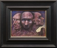 Lot 6-* PETER HOWSON OBE, ONE MIND pastel on paper,...