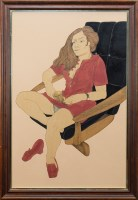 Lot 10-* ALASDAIR GRAY (SCOTTISH b. 1934), DANIELLE...