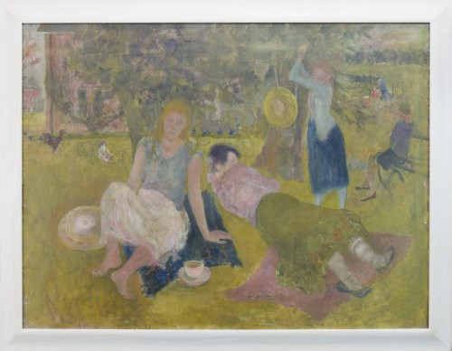 Lot 12-* MARY EDMOND, SUMMER oil on canvas, signed,...