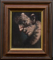 Lot 53-* PETER HOWSON OBE, JIMBO oil on canvas, signed,...