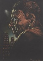 Lot 54-* PETER HOWSON OBE, TWO HEADS pastel on paper,...