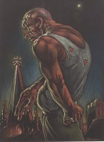 Lot 56-* PETER HOWSON OBE, JOURNEY'S END pastel on paper,...