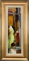 Lot 65-* JOE MCINTYRE, MANNEQUINS oil on canvas laid on...
