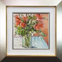 Lot 86-TOM SCANLON, ORANGE BLOOM oil on canvas, signed...