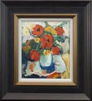 Lot 119-* ANNE MENDELOW, SPRING BOUQUET oil on canvas,...