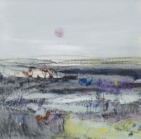 Lot 170 - MAY BYRNE, WINTER MORNING mixed media on board,...