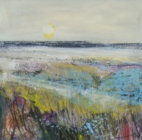 Lot 180 - MAY BYRNE, SUN ON THE MACHAIR mixed media on...