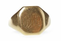 Lot 521-GENTLEMAN'S EARLY TWENTIETH CENTURY SIGNET RING...