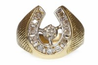 Lot 527-GENTLEMAN'S FOURTEEN CARAT GOLD DIAMOND SET...