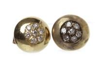 Lot 556 - PAIR OF DIAMOND STUD EARRINGS each of circular...
