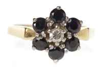 Lot 569-MID TO LATE TWENTIETH CENTURY SAPPHIRE AND...