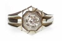Lot 634 - GENTLEMAN'S DIAMOND SET SIGNET RING with a...