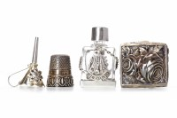Lot 817-CONTEMPORARY MINIATURE SILVER MOUNTED SCENT...
