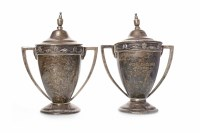Lot 821-TWO MATCHED GEORGE V SILVER TROPHY CUPS OF...