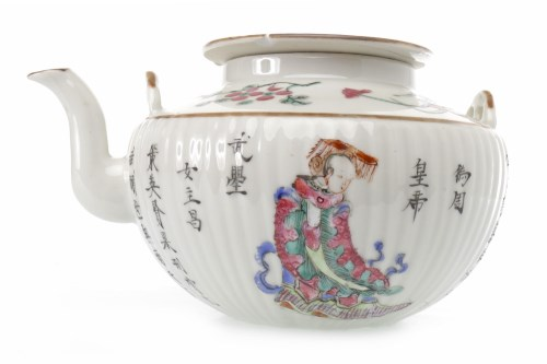 Lot 1023-EARLY 20TH CENTURY CHINESE FAMILLE ROSE TEA POT...