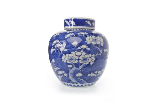 Lot 1030-20TH CENTURY CHINESE BLUE CHINESE LIDDED GINGER...