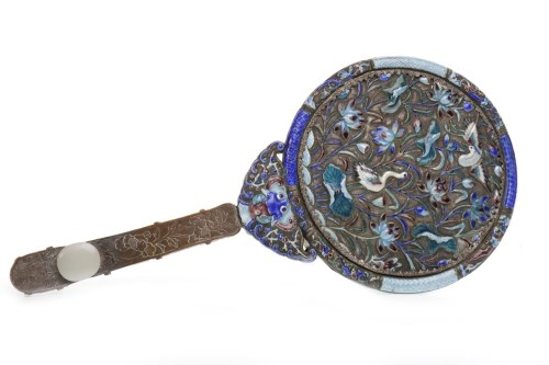 Lot 1043-FINE LATE 19TH CENTURY CHINESE ENAMELLED WHITE...