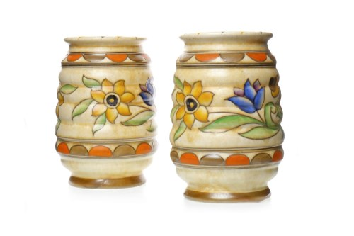 Lot 1211 - PAIR OF CHARLOTTE RHEAD FOR CROWN DUCAL VASES...