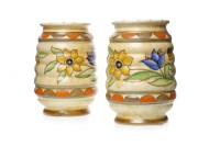 Lot 1211-PAIR OF CHARLOTTE RHEAD FOR CROWN DUCAL VASES...