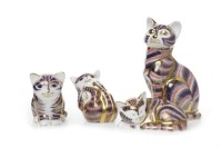 Lot 1212 - ROYAL CROWN DERBY SEATED CAT PAPERWEIGHT marks...