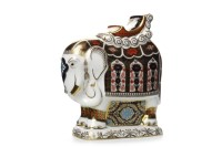 Lot 1216 - ROYAL CROWN DERBY LARGE IMARI ELEPHANT...