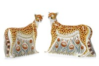 Lot 1217 - ROYAL CROWN DERBY 'CHEETAH' AND 'CHEETAH DADDY'...