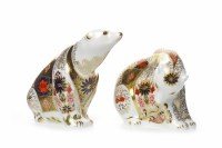 Lot 1218 - ROYAL CROWN DERBY OLD IMARI POLAR BEAR...