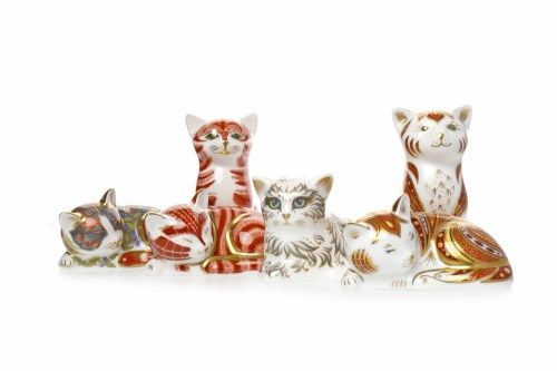 Lot 1219 - ROYAL CROWN DERBY MARMALADE KITTEN PAPERWEIGHT...