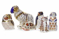 Lot 1223-ROYAL CROWN DERBY OLD IMARI TORTOISE PAPERWEIGHT...